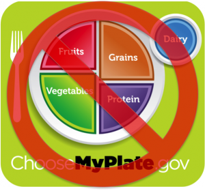 "Not MyPlate. (Though this is better than the old ""pyramid"")"