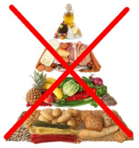 My food pyramid has two halves - plants and animals.